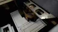 Laser cutting machine cuts the metal video