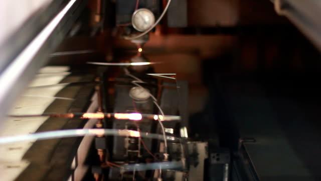 Laser cutting sheet video