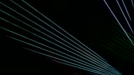 Laser light show in the dark video