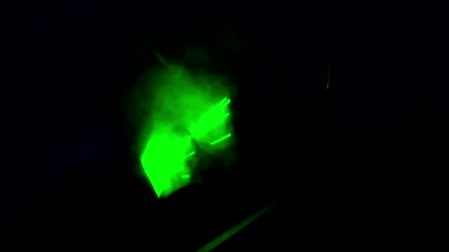 Laser Light  Strobing video