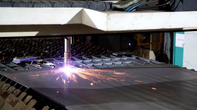 CNC laser metal-cutting manufacturing tool video