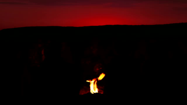 Late in the evening around  fire video