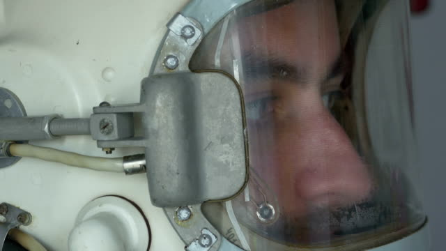 Lateral View of Cosmonaut Helmet video