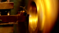 Lathe in factory video