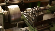 Lathe machine at work video