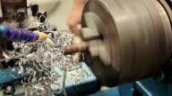 Lathe machine,Close up video