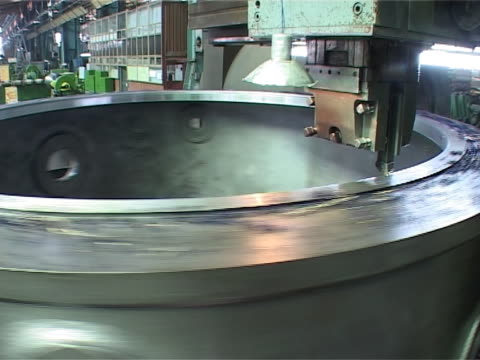 Lathe machinery video