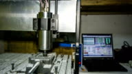 Lathe With Numerical Control Processing At Workshop video