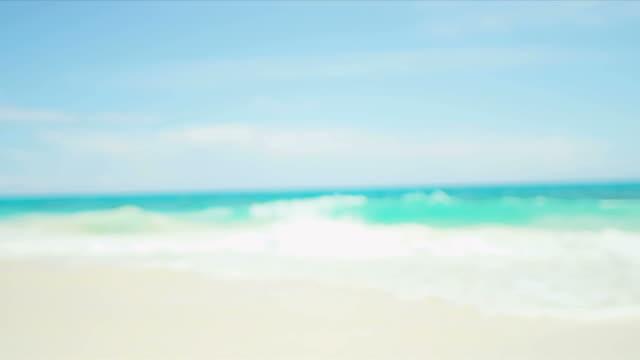 Latin American Girl Sunhat Relaxing Luxury Vacation Beach Chair video