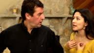 Latin Couple Argue in Home - CU ver b video