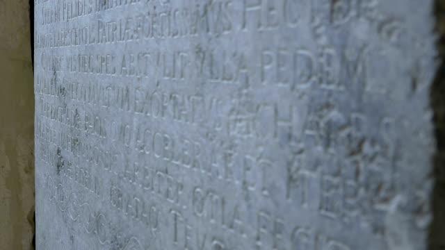 Latin Language Stone Inscription video