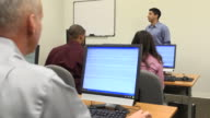 Latin Male Teaching Adult Students - WS video