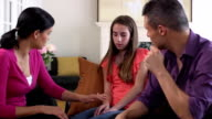 Latin Parents have Serious Discussion with Daughter video