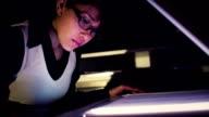 Latina secretary with copy machine video