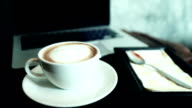 Latte Art, concept in the morning video