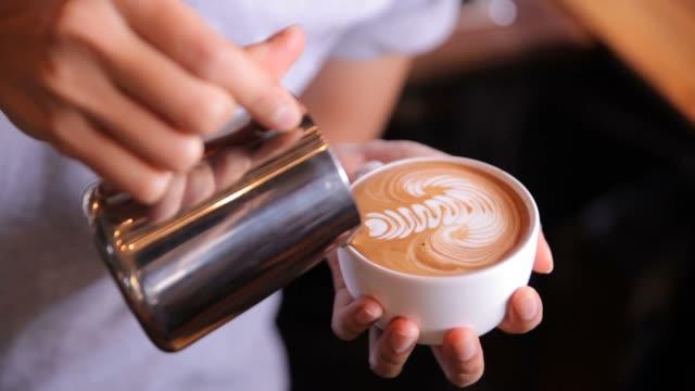 Latte art Making, HD video