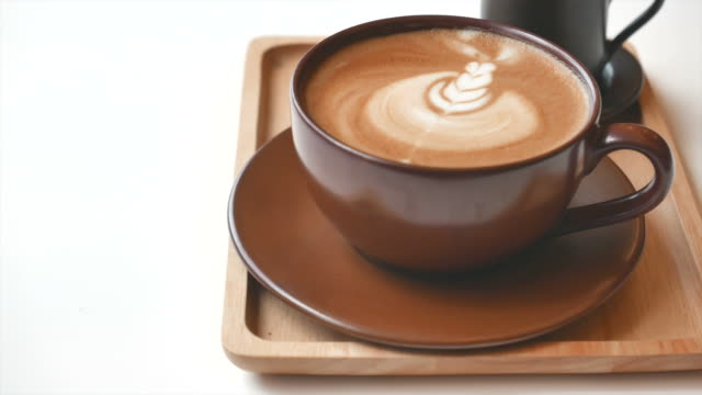 HD Latte Coffee cup video
