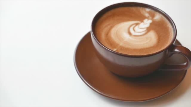 HD Latte Coffee cup video