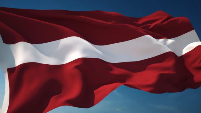 4K Latvia Flag - Loopable video