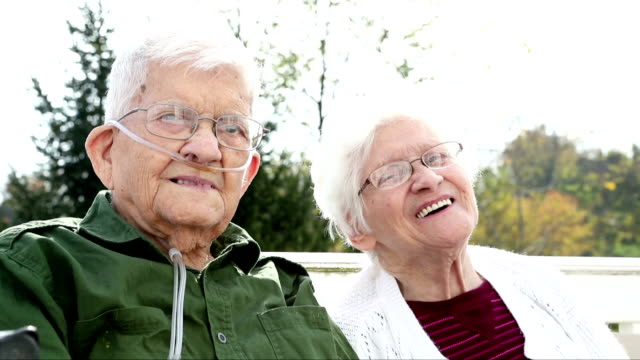 Laughing Senior Citizen Couple video