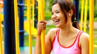 Laughing Woman in Playground video