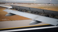 Launched wing mechanization. View from the plane. video