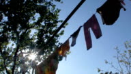 Laundry drying video
