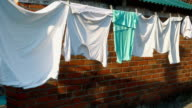 laundry hanging on the clothesline video