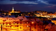 lausanne city at night video