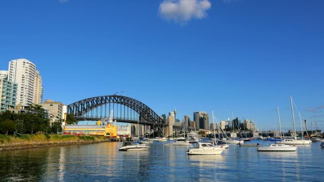 Lavender Bay and Sydney Harbor Bridge (4K/UHD to HD) video