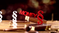 law and money theme, dolly shot video