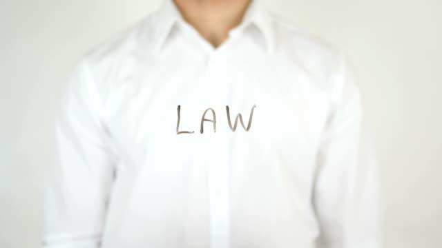 Law, Written on Glass video