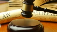 Lawyer attorney barrister law settlement in court magistrate judge gavel video