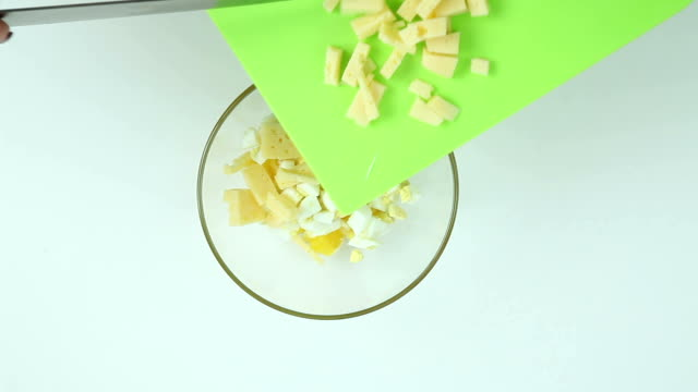 Lay the cheese in a dish video