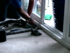 Laying Carpet, Using Chisel to Stretch Rug into Corner video