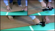 Laying laminate video