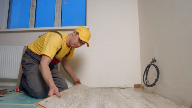 Laying parquet. video