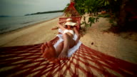 Laziness and relaxation on hammock video