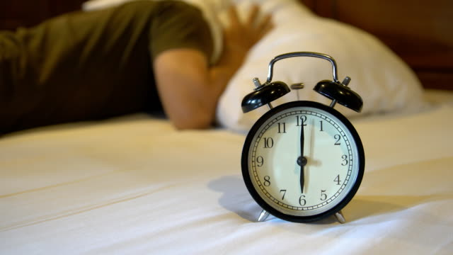 lazy to waking up from alarm clock video