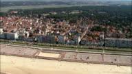 Le Touquet  - Aerial View - Nord-Pas-de-Calais, Pas-de-Calais, Arrondissement de Montreuil, France video