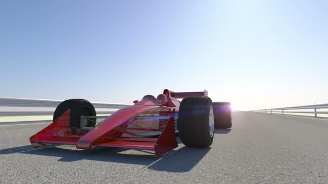 Leader F1 Race Car Wins - Close Up Shot video