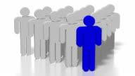 3D leadership concept video