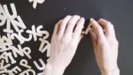 Leadership  Spelled In wooden alphabet video