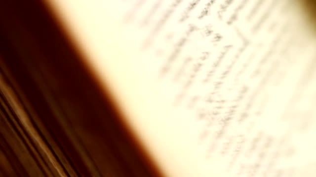 Learning languages. Thumb through an old dictionary. video