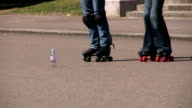 Learning to dance on roller skates video