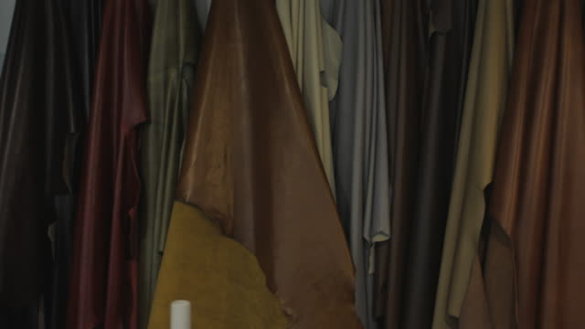 Leather Goods Selection In Store video