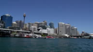Leaving Darling Harbour on a ferry video