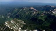 Leaving the Grand Teton National Park  - Aerial View - Wyoming,  Teton County,  helicopter filming,  aerial video,  cineflex,  establishing shot,  United States video