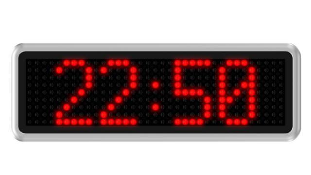 Led dot display countdown video