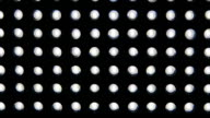 Led light diodes display panel pattern close-up video